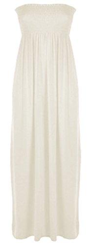 Vanilla Inc - Robe - Boule - Sans Manche - Femme noir * taille unique Crème