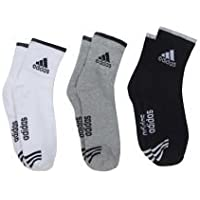Adidas Multicolour Cotton Ankle Length Socks for Men - Pack of 3