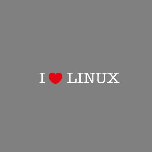 I love Linux - Stofftasche / Beutel Grau