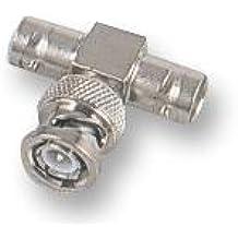 Conectores–RF/––Adaptador coaxial BNC Plug Jack BNC Jack 50ohm–BNC Adaptador de 'T' de níquel