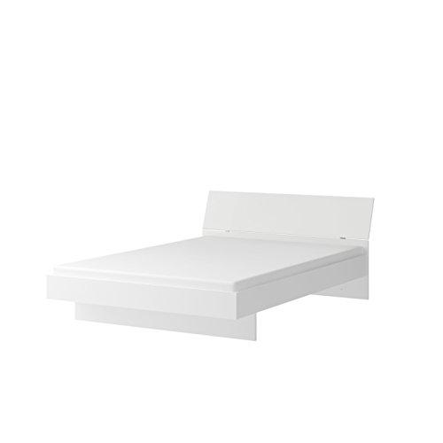 Wellemöbel, Jugendwunder, Bett mit Farbigem Kopfteil, 84157891, Alpinweiß/Alpinweiß