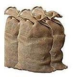 SACCHI IN JUTA (CANAPA NATURALE) PER VARI USI MISURA 60 X 110 CM CONFEZIONE DA 2 PEZZI