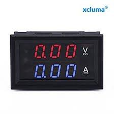 Robocraze Robocraze RC-A-542 Digital Voltmeter Ammeter DC 0-100 V, 10 A Dual Led Red Blue Monitor Panel