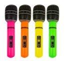 Blow Up 40cm Farben sortiert aufblasbares Mikrofon neon Farben Henne/Hirsch Party 40 cm sortiert