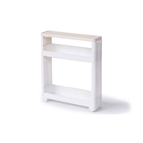 XMUEI Badezimmer-Regalboden Badezimmer-Speicher-Kabinett-Klipp-Speicher-Toiletten-WC-Spalt WC-Seitenschrank Seitenschrank (Size : Two Layers) -