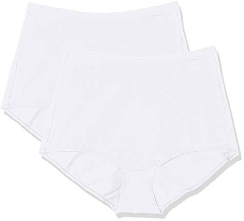 Triumph touch of cotton maxi 2p slip, bianco (white 0003), 2 (taglia produttore: large) donna