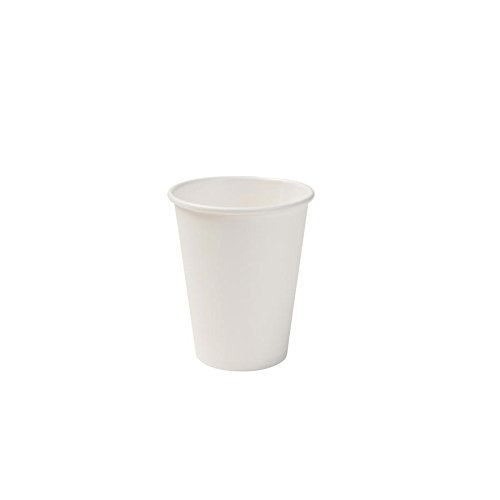Biozoyg bicchiere di carta biologico i bicchiere monouso bicchiere di carta bicchiere compostabile e biodegradabile i bicchieri bianchi, non stampati, eco-compatibili 50 pezzi 200ml 8 oc