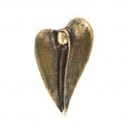 Handschmeichler: Engel in Herzform * Bronzeminiatur in Geschenkverpackung * 3 x 5 (Engel Verkleiden)