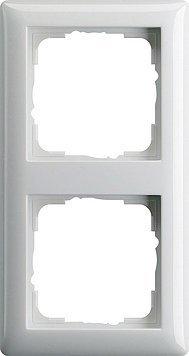 Preisvergleich Produktbild GIRA System 55 reinweiß glänzend - 10er Set (021203) 2-fach Rahmen