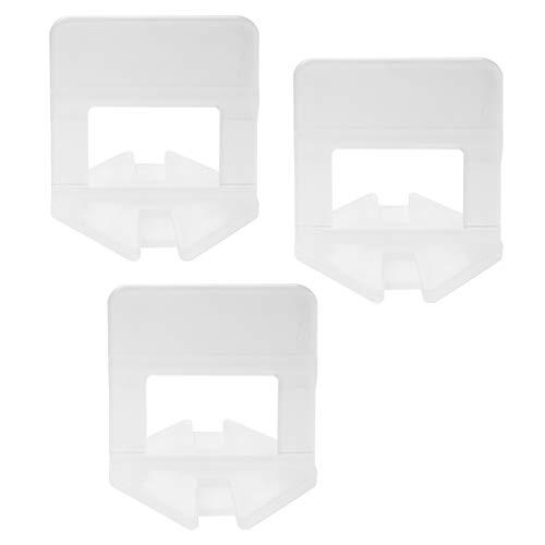 500 pcs karofit Lantelme de baldosas de nivelación sistema de lengüetas para juntas de ancho y 1 mm en el suelo o de montaje en pared - herramienta de sistema - sistema por el que se - ayuda acostado, laxistas también para grandes forma plazo de azulejos instalación 3-15 mm