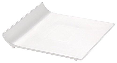 CAC China SF-P16 Sunrise Square Teller aus weißem Porzellan, quadratisch, 25,4 x 25,4 x 3,8 cm, 12 Stück - China Teller, Weiße Quadratische