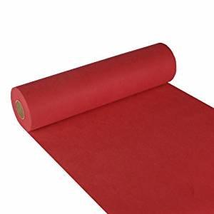 """Papstar, Tischläufer, stoffähnlich, Vlies """"soft selection"""" 24 m x 40 cm rot auf Rolle, #84322"""