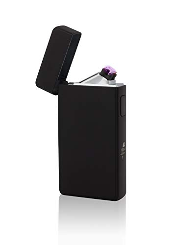 TESLA Lighter T13 | elektronisches USB Lichtbogen Feuerzeug, matt Schwarz