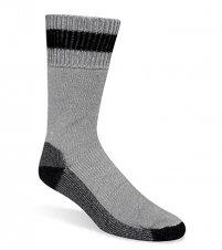 WIGWAM MILLS INC – Diabetic Socks, Thermal, Gray & Black, Men's XL