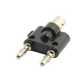 CY BNC Buchse auf zwei Dual-Bananenstecker, RF-Splitter Adapter-Stecker -