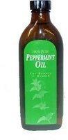 100% pure huile de menthe poivrée mélangée à l'huile d'amande douce. 150ml