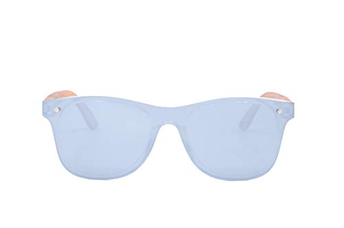 NOVEL Sonnenbrille | Zebraholz | Polarisierte Gläser | inkl. Etui mit Microfasertuch | Farbe: Braun