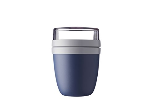 Rosti Mepal Lunch Pot Ellipse - Lunchpot, Plastik, Nordic denim, 10.7 x 10.7 x 15.1 cm, 1 Einheiten