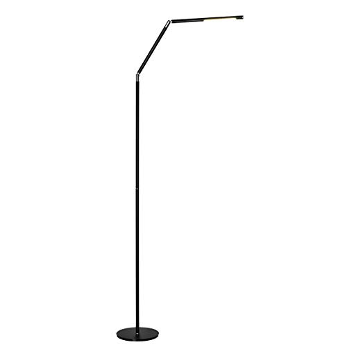 Halo Optronics Rocket 1933 Combo LED Stehleuchte 10W entspricht 100W Touch Control & Dimmbare Farbe und Helligkeit Wohnzimmer Lampe Leselampe Design Lampe Alles Aluminium Rotary360° Energieeffizient.