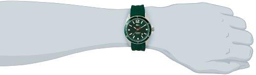 5503835e924b Lacoste 2010663 - Reloj analógico de cuarzo para hombre con correa de  silicona