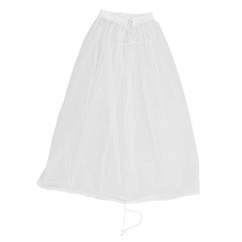 D DOLITY Damen Kleid Petticoat Krinoline Reifrock Unterrock, Verstellbar zum A-Form