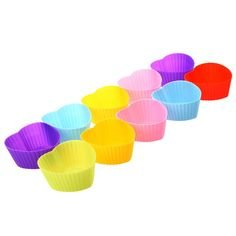 HPK Branded muffin cupcake reusable microwave safe silicone cups pack for Morphy Richards 25 L Convection Microwave Oven