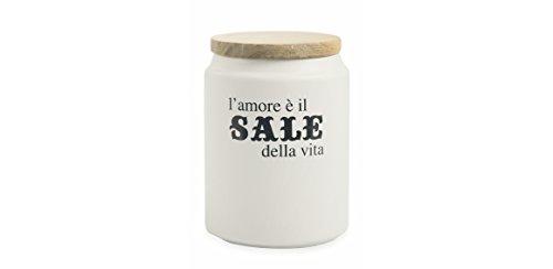 comprare on line Villa d'Este Home Tivoli Idee Barattolo Sale, Gres, Bianco,