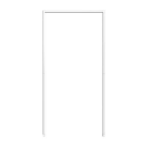 WIP Insektenschutz-Montagerahmen für Tür 125x245cm, weiß
