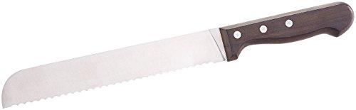 Rosenstein & Söhne Messer mit Wellenschliff: Brotmesser mit 20-cm-Klinge und Griff aus Blackwood-Holz (Kuchenmeser)