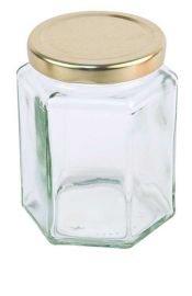 8OZ Hex Honig Gläser (36Stück)-Marmelade, Konserven,