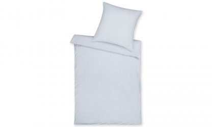 Parure de lit en jersey interlock mako ED - 2 pièces - Couleur Argent 135x200 / 80x80 cm argent