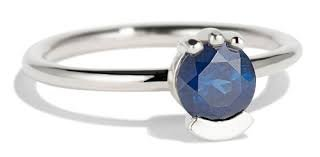 White Hills Stone 5.50 Ratti Blue Sapphire Neelam Adjustable Ring By Lab Certified