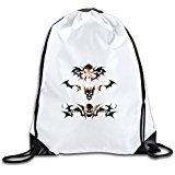 Kim Wolf Bat Skull Unisex bag(Zaini)s Brand New Size Size Key White
