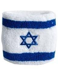 Digni® Poignet éponge avec drapeau Israel