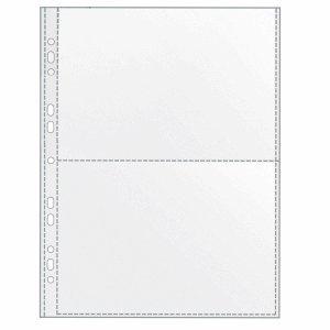 Veloflex - Busta trasparente per collezionismo suddivisa a metà, formato A5 orizzontale, 100 pezzi