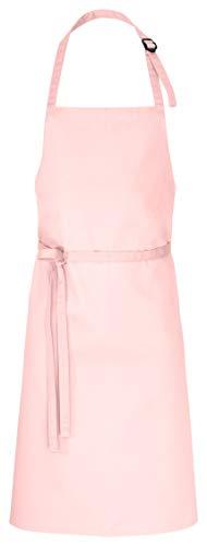 DESERMO Latzschürze 100 x 80 cm rosa 35% Baumwolle / 65% Polyester -