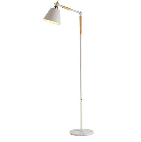 WSX Stehlampe kreative einfache Schlafzimmer Studie Nordic Holz vertikale Stehleuchte (Farbe : Weiß) - Gedruckt Badezimmer-teppiche