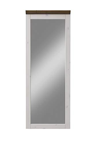 Steens Monaco Spiegel, 52 x 144 x 7 cm (B/H/T), Kiefer massiv, weiß grau