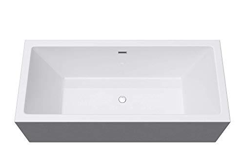 Freistehende Badewanne 180x80x58cm Weiß Sanitäracryl Standbadewanne Mai & Mai V509OA