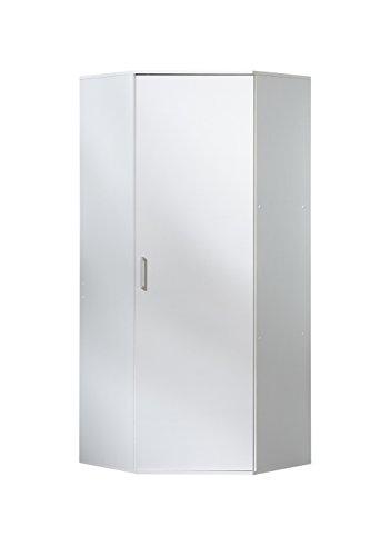 WILMES 40135-75 0 75 Eckschrank Ronny Dekor Melamin, 75 x 178 x 75 cm, weiß - Weißer Eckschrank