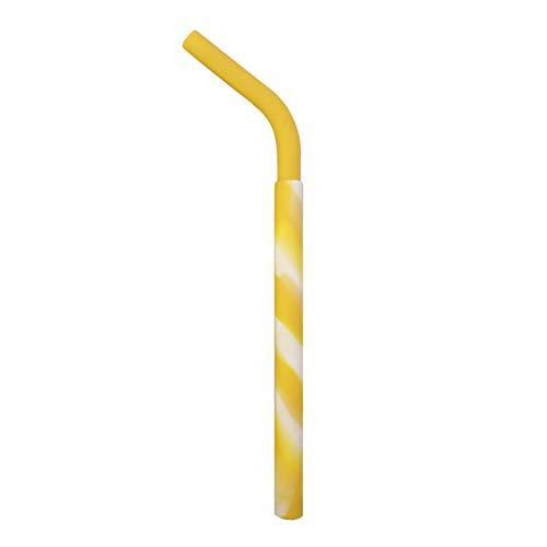 Lolittas Silicone Lavable réutilisable Pratique de Couleur de qualité Comestible Buvant la Paille tordue Paille INOX Paille reutilisable Paille Bambou Paille Papier