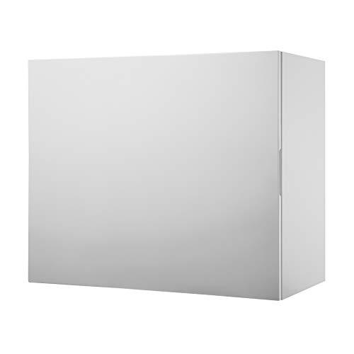 Riess Ambiente Moderner Design Cube 60 cm weiß Hochglanz 2 Fächer Wandregal Hängeschrank Würfel Wandschrank Wohnzimmerschrank Regal