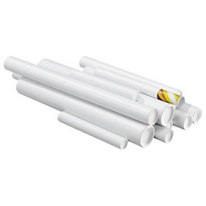 Preisvergleich Produktbild 20 Stk. weiße Versandrohre<br / >Innen-Ø: 100 mm x L 1000 mm<br / >Gewicht: 364 g<br / >DIN A0