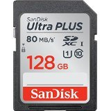 San Disk Ultra Plus SDHC UHS   I Card 128   GB Speed up to 80 MB s 533x available at Amazon for Rs.12921