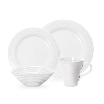 Price comparison product image Portmeirion Sophie Conran White 4 Piece Placesetting, Garden, Lawn, Maintenance