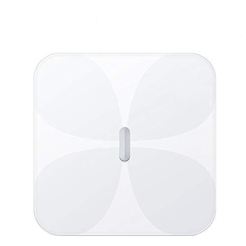 Intelligente Körperfettwaage, Elektronische Haushaltswaage mit Bluetooth APP Gesundheitsindikatoren Datenerfassung, Anpassung ios Android White für zu Hause.