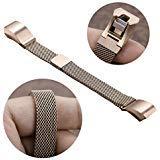 Fitbit-Alta-Armband, Fitbit-Alta-HR-2-Armband, Abeky-Metallarmband für Fitbit Alta, Milanese Loop-Magnetverschluss, Alternativ-/Austauscharmband, Edelstahl mit verstellbarem Verschluss, klein/groß