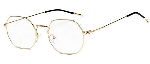 Sonnenbrille Vintage Mode Designer Golden Frauen Brille Frame Männer Hexagon Ultra-Leichte Brillen Optische Gläser Frame