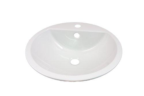Alape Einbaubecken EB.S450H kreisförmig, weiß 2406000000