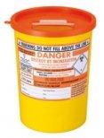 SharpsGuard Arancione Coperchio 3.75 Litro Colore Codificati Contenitore Rifiuti Sanitari